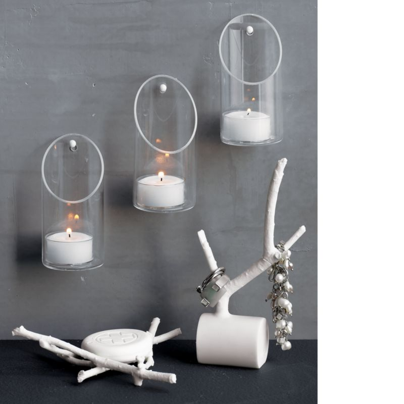 wall-mounted tea light candle holder