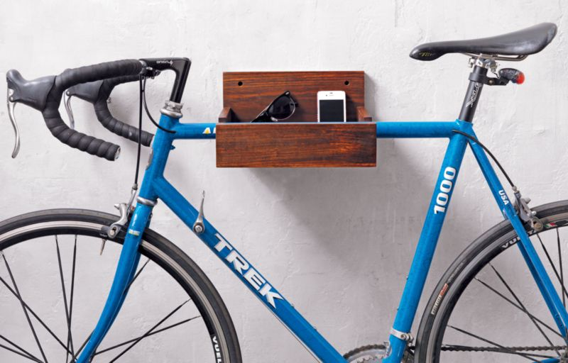 wood bike storage
