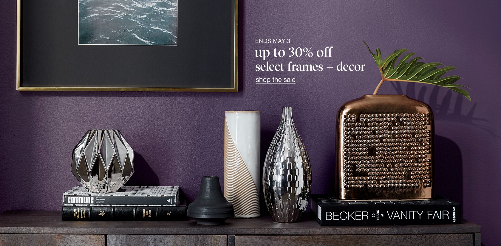 up to 30% off decor and frames