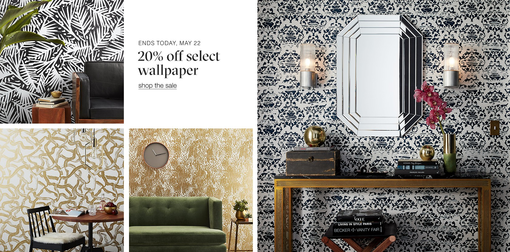 20% off select wallpaper