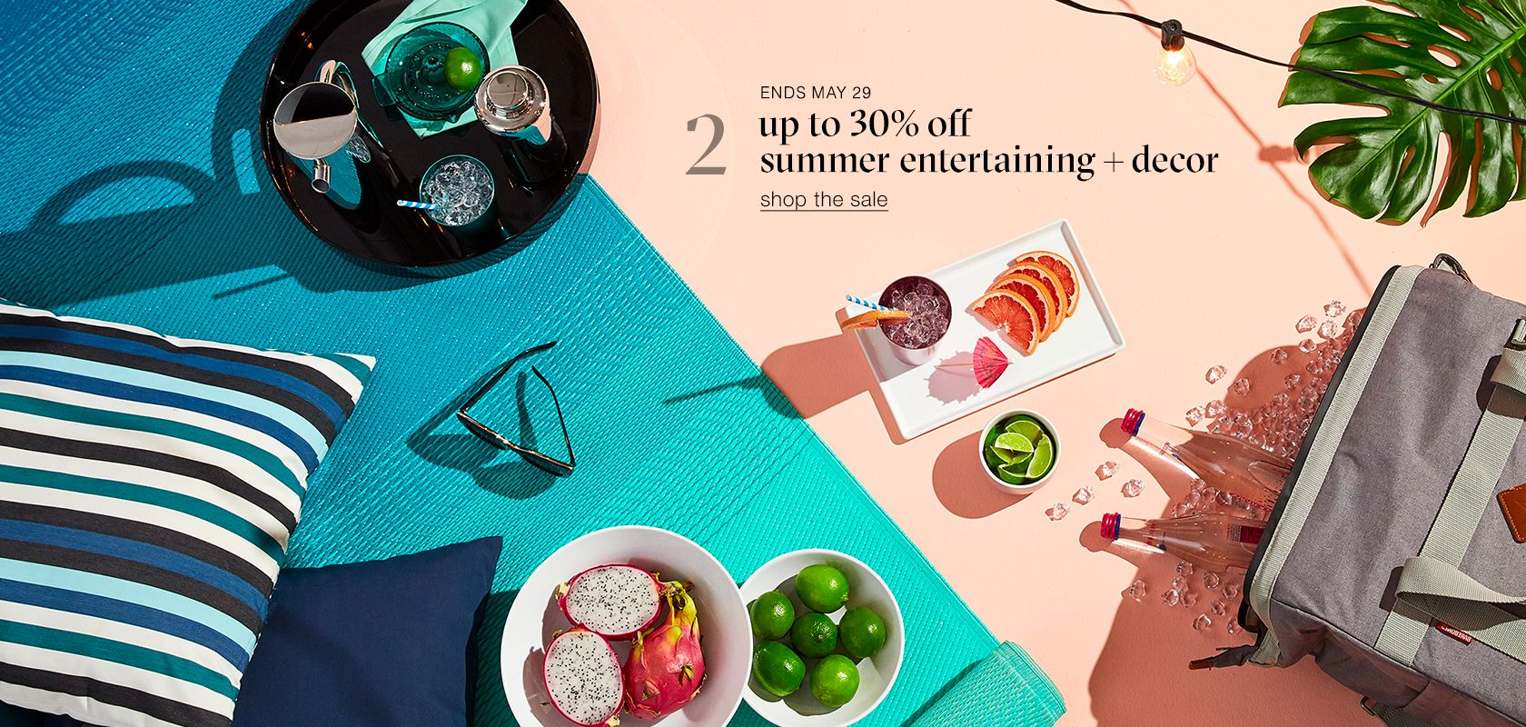 up to 30% off summer entertaining and decor