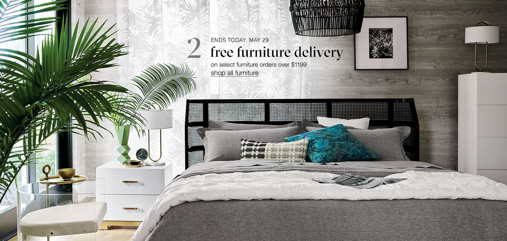 free furniture delivery on select furniture orders over $1199