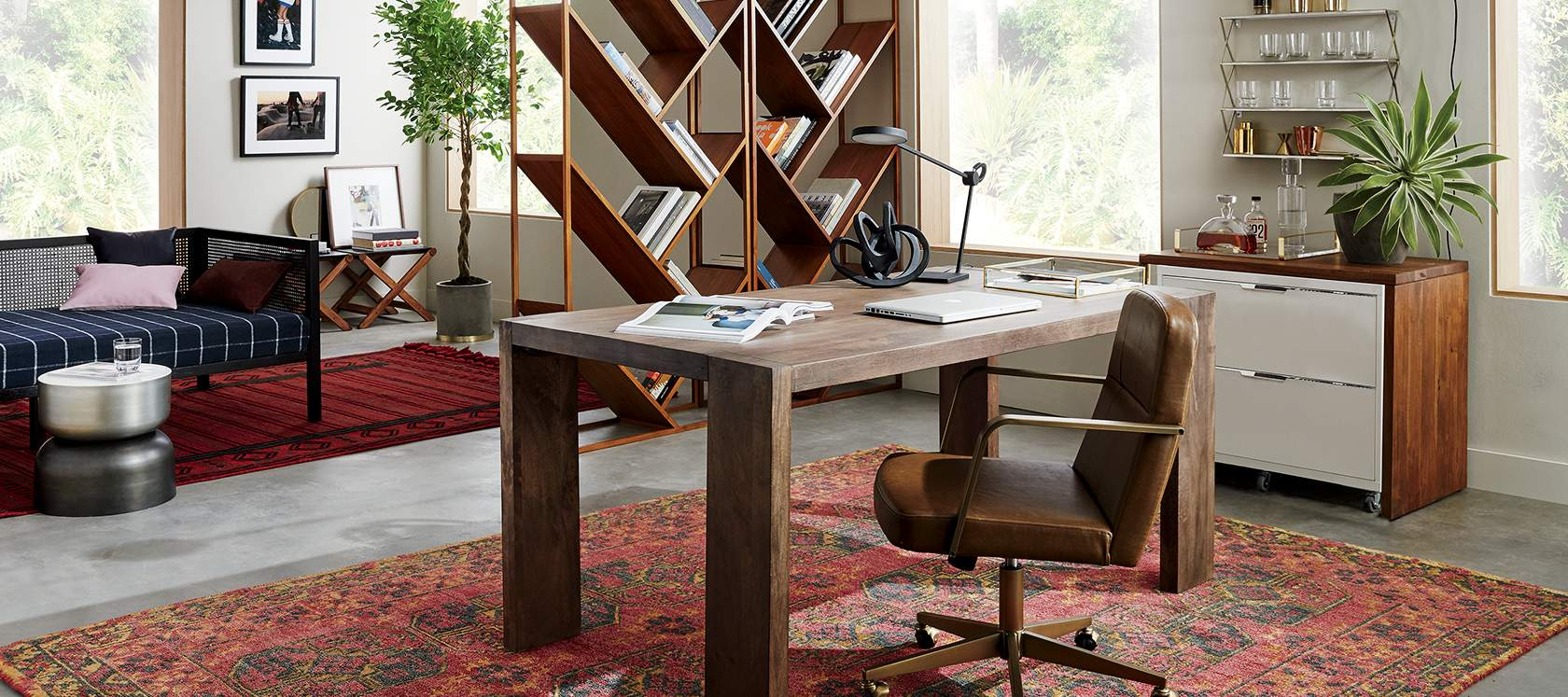 Home office furniture and office accessories cb2 for Office images