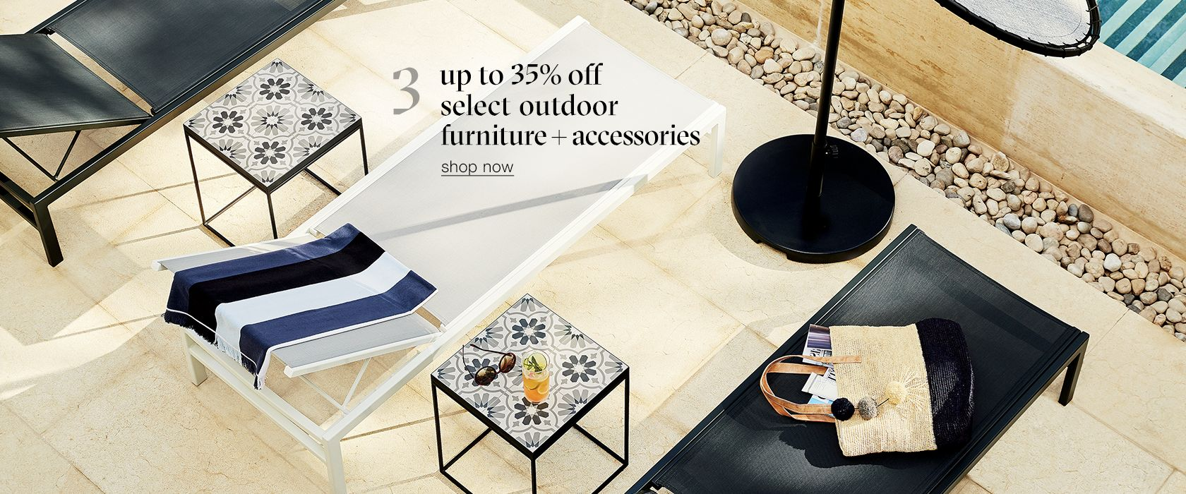 up to 35% off select outdoor furniture and accessories