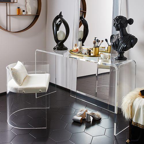 A Modern Glamazon Bathroom Cb2 Style Files