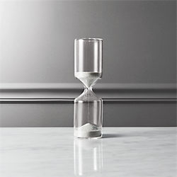 15-minute black and white hour glass