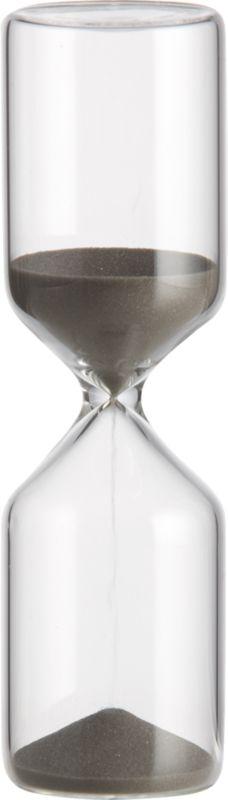 15 minute black hour glass