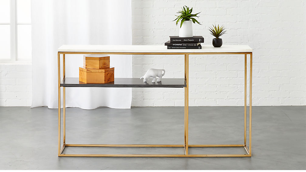 2 Tone Marble Console ...