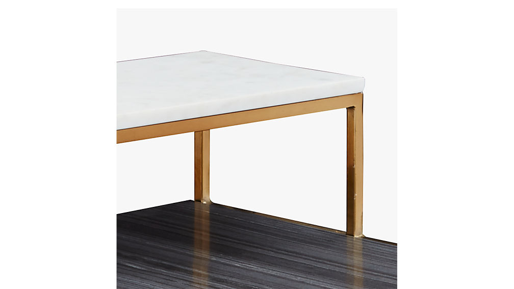 2 tone marble side table