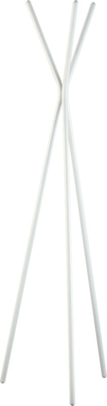 3 prong white coat rack