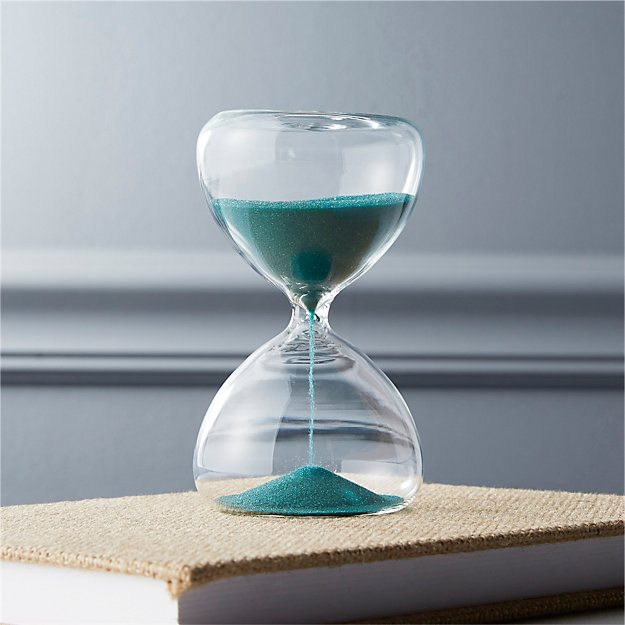 5-minute turquoise hour glass