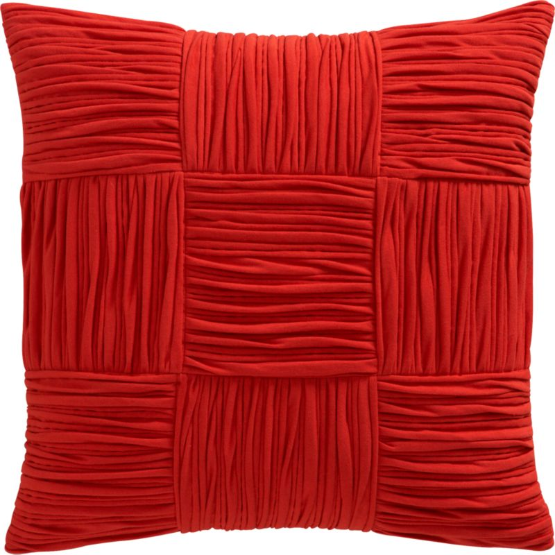 "9 square burnt orange 18"" pillow with feather-down insert"
