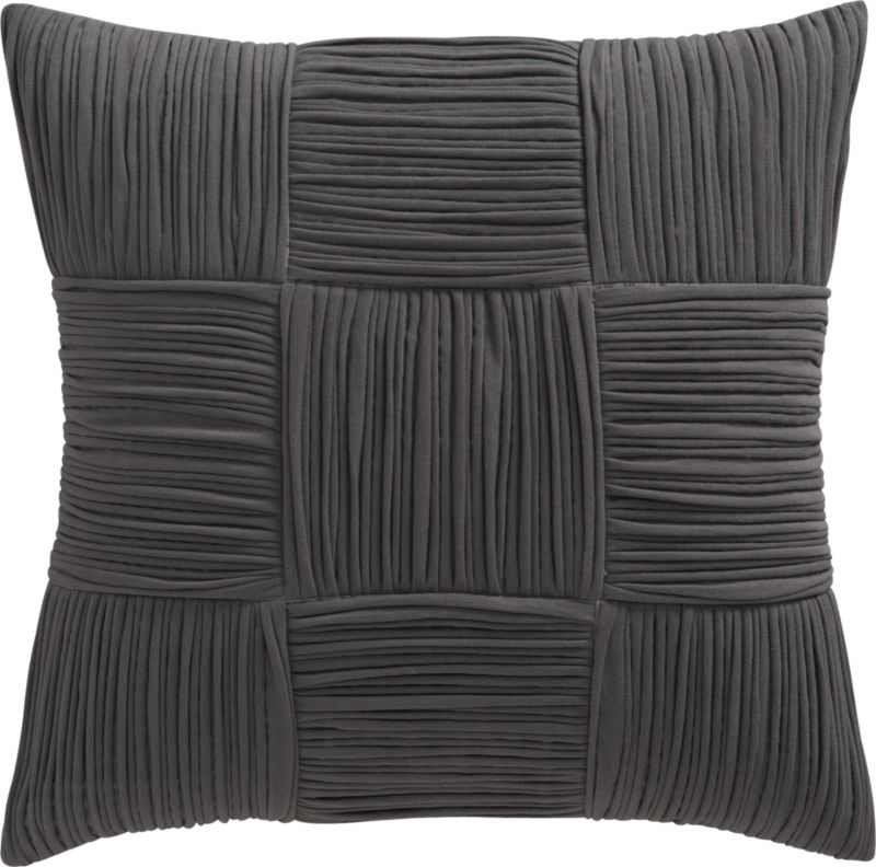 """9 square grey 18"""" pillow"""