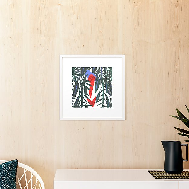 """prettiness is not a rent with white frame 19.5""""x19.5"""""""