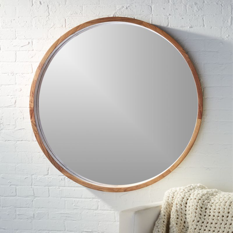 Acacia Wood 40 Quot Mirror Reviews Cb2