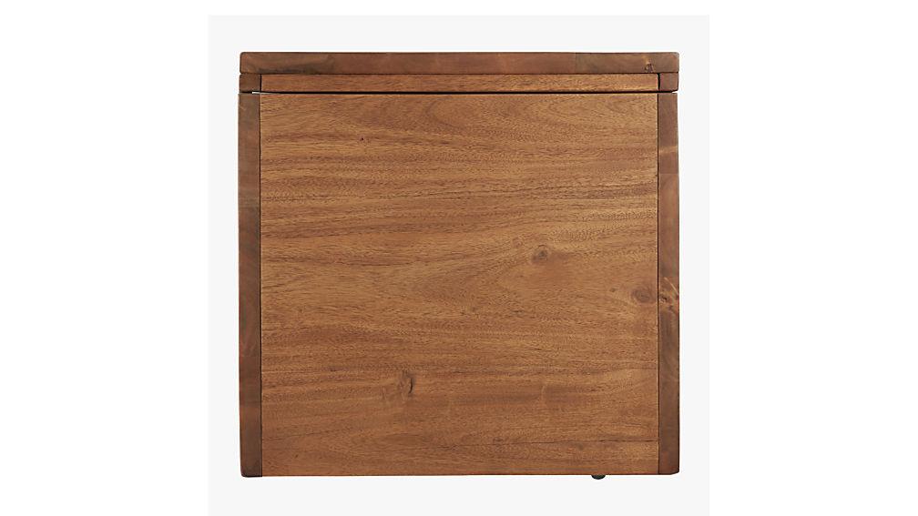 acacia storage bench