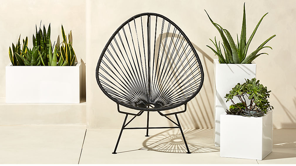 outdoor black acapulco chair | CB2