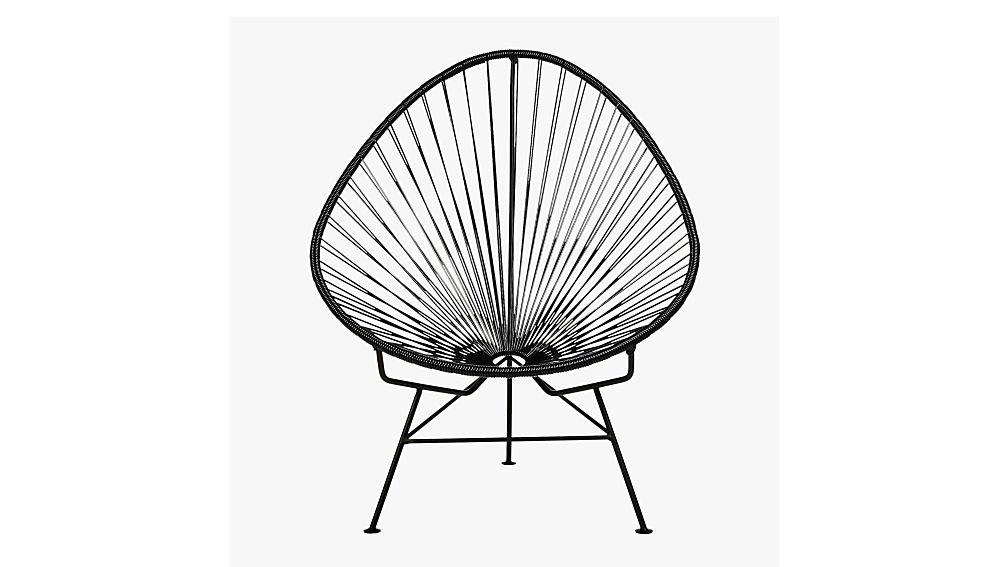 Acapulco black egg outdoor chair cb2