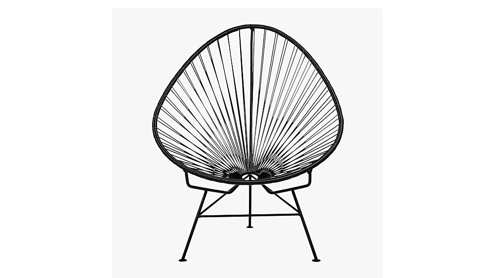 acapulco black egg outdoor chair