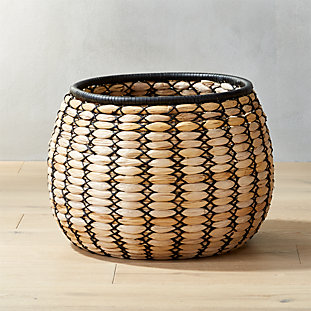 Amber Coiled Rope Basket Reviews Cb2