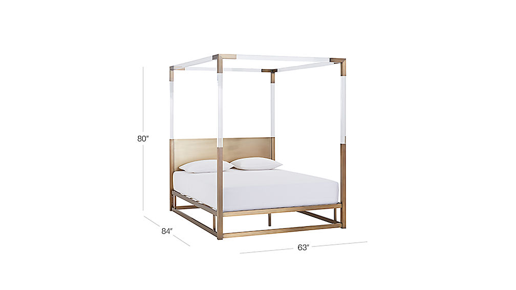 TAP TO ZOOM Image with dimension for Acrylic Canopy Bed Queen  sc 1 st  CB2.com & Acrylic Canopy Bed | CB2