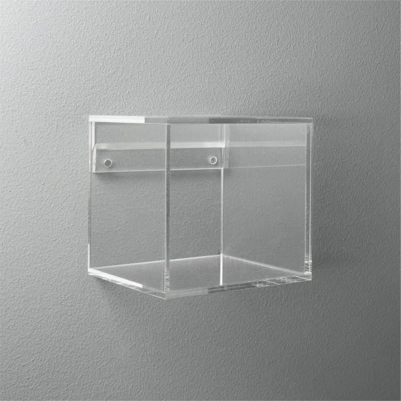 Acrylic Cube Shelf Reviews Cb2