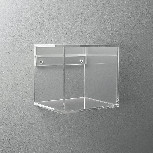 acrylic cube shelf cb2. Black Bedroom Furniture Sets. Home Design Ideas