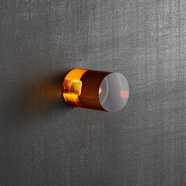 AcrylicCylinderKnobAmberSHF16