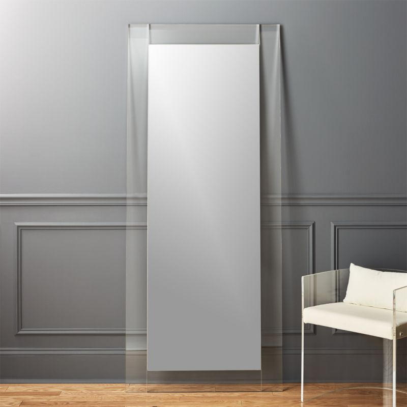 30 Quot X76 Quot Acrylic Floor Mirror In Mirrors Reviews Cb2