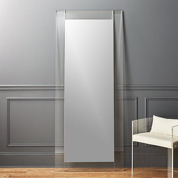 "30""x67"" Acrylic Floor Mirror"