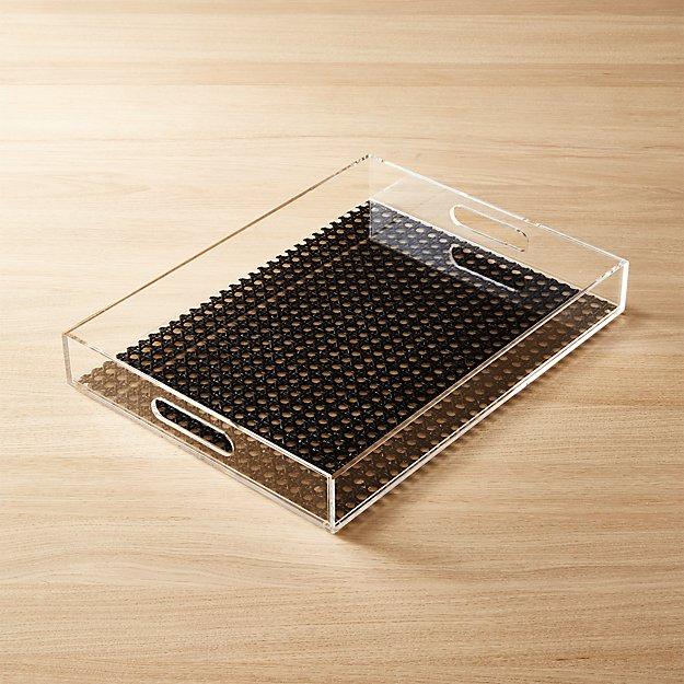 acrylic and cane tray