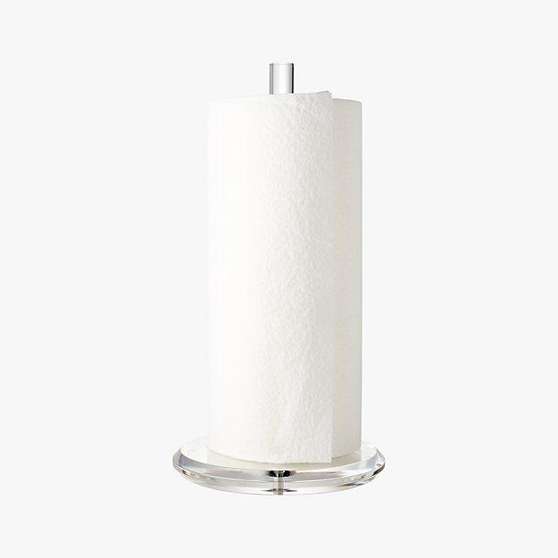 acrylic paper towel holder in kitchen storage reviews cb2. Black Bedroom Furniture Sets. Home Design Ideas