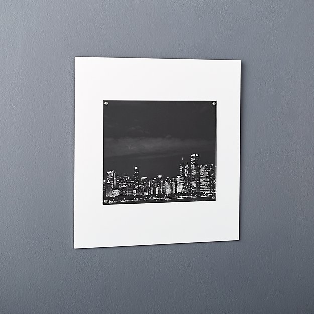 Acrylic White 8x10 Picture Frame Cb2
