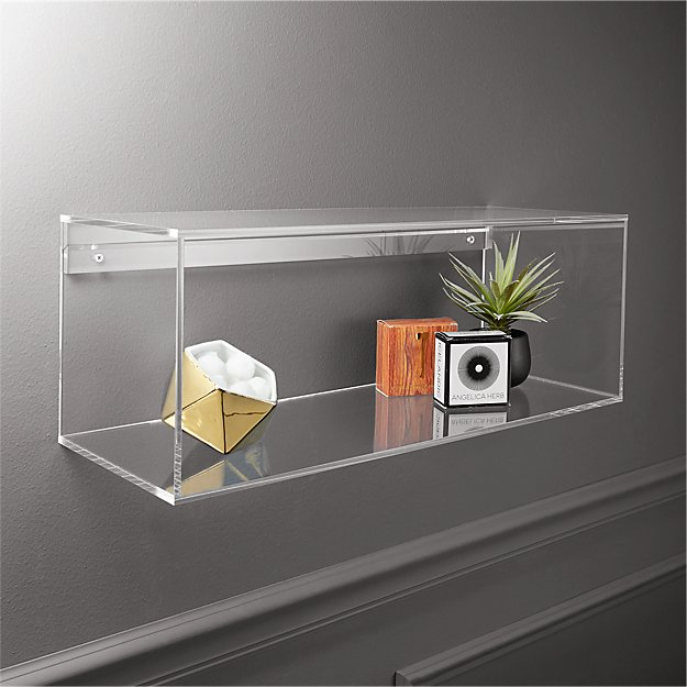 lucite shelf in storage accessories reviews cb2. Black Bedroom Furniture Sets. Home Design Ideas