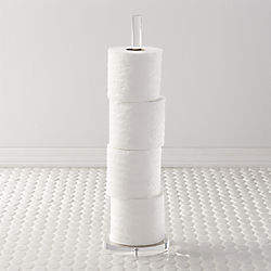 acrylic toilet paper storage tower
