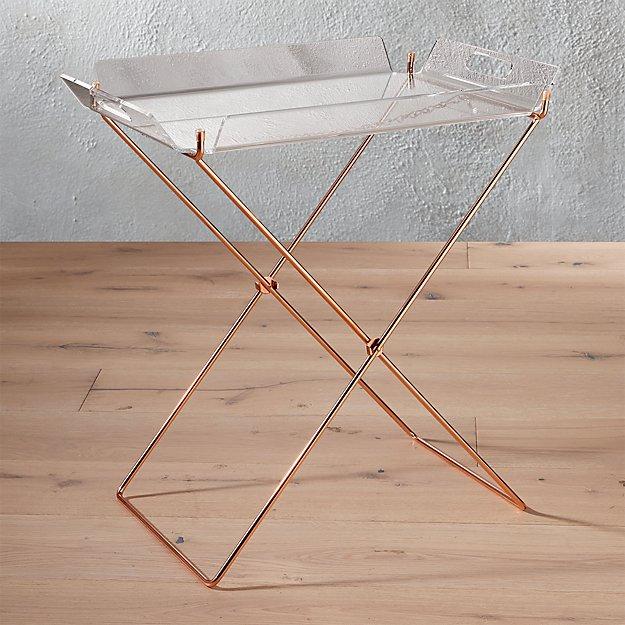 Acrylic Tray Table Reviews Cb2