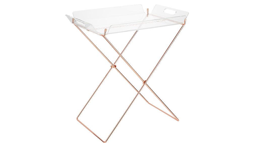 Acrylic Tray Table Cb2