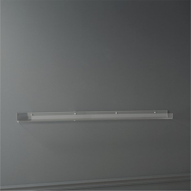 acrylic wall shelf 48""