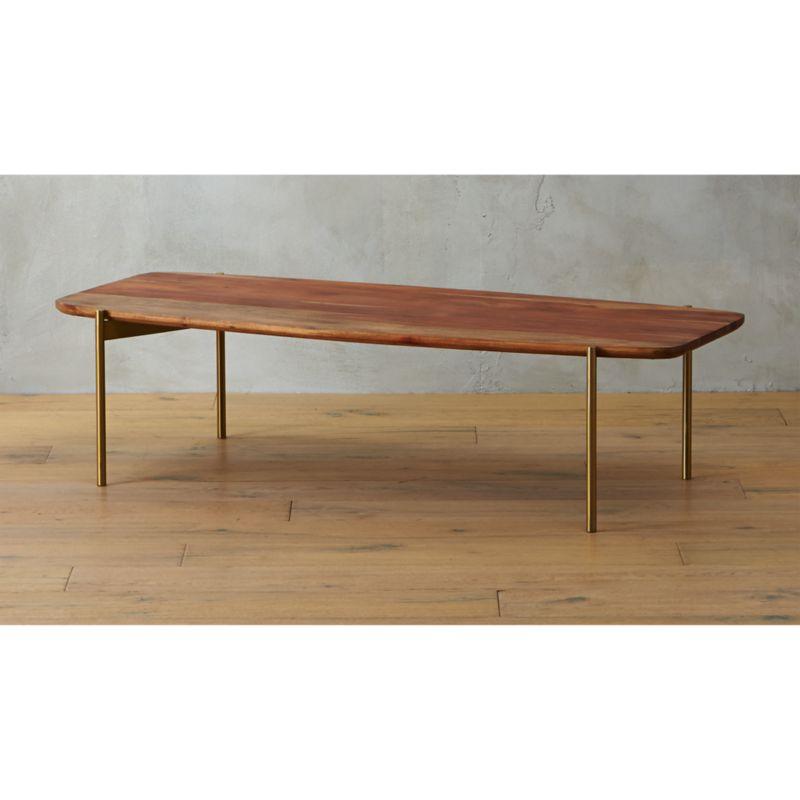 adam wood coffee table CB2