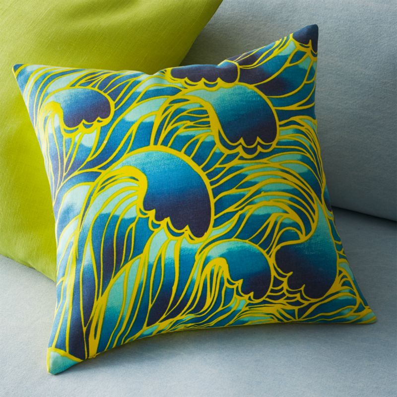 """aerial 16"""" pillow with feather insert"""