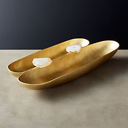 Agate Double Bowl