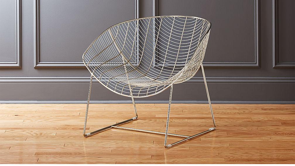 agency chrome chair