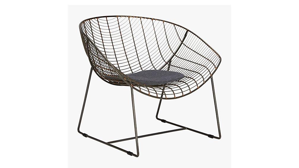 grey chair cushion CB2