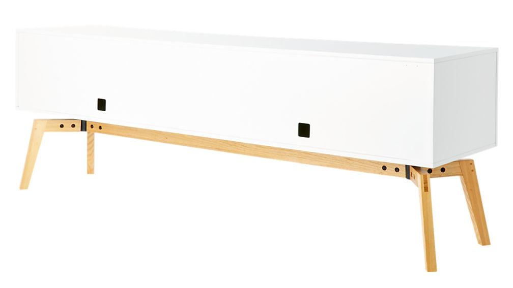 Alba Large White Lacquer Credenza