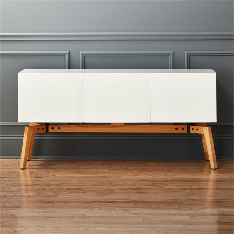 Alba Small White Credenza Reviews Cb2