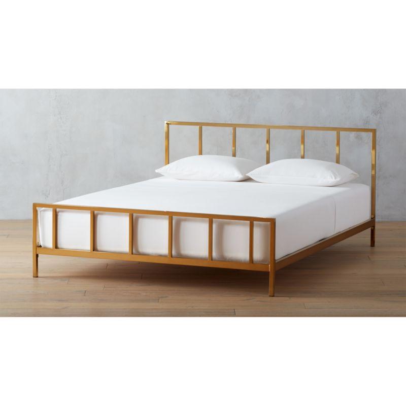 alchemy bronze bed   CB2