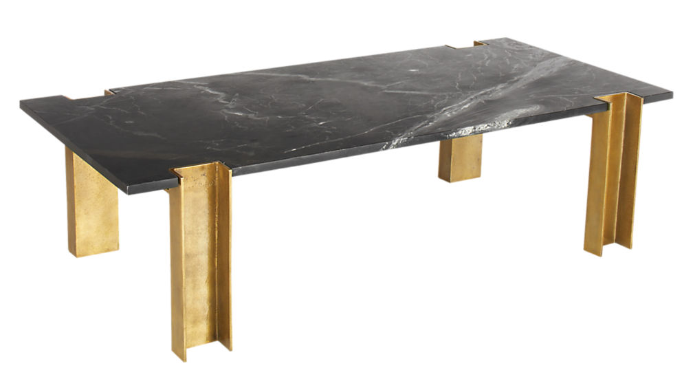 alcide black marble coffee table cb2