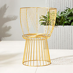 alexandria metal gold chair