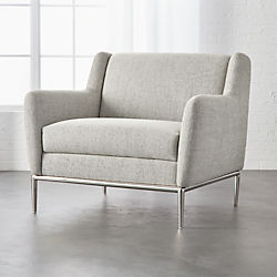 Modern Furniture Chairs. Alfred Stone Grey Chair Modern Accent Chairs and Armchairs  CB2