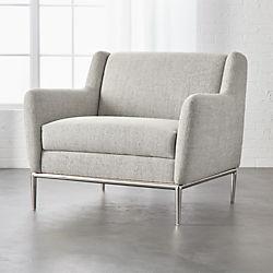 modern white chairs. Alfred Stone Grey Chair Modern White Chairs .